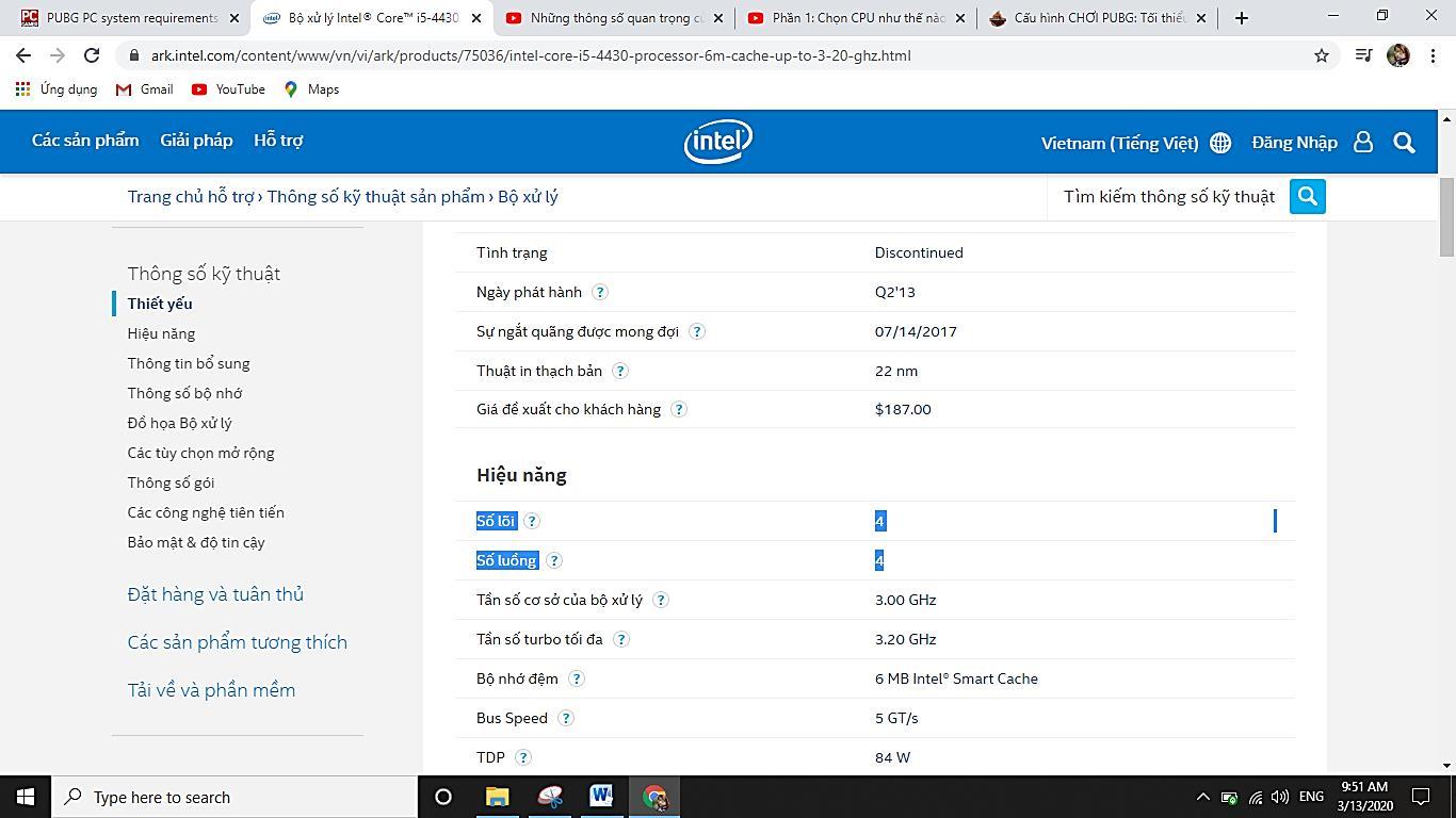 CPU i5 4430 4 nhân 4 luồng