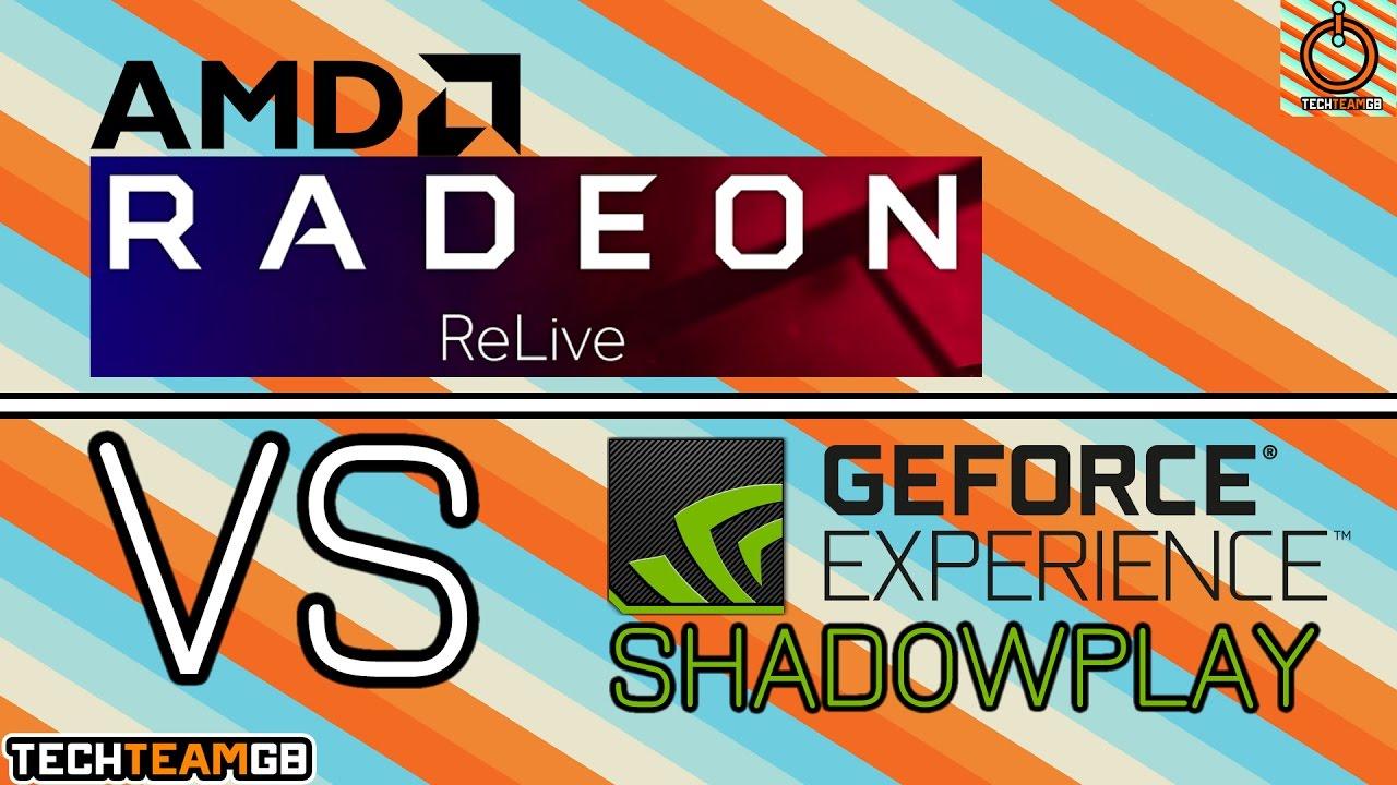 Nvidia Shadowplay vs AMD ReLive