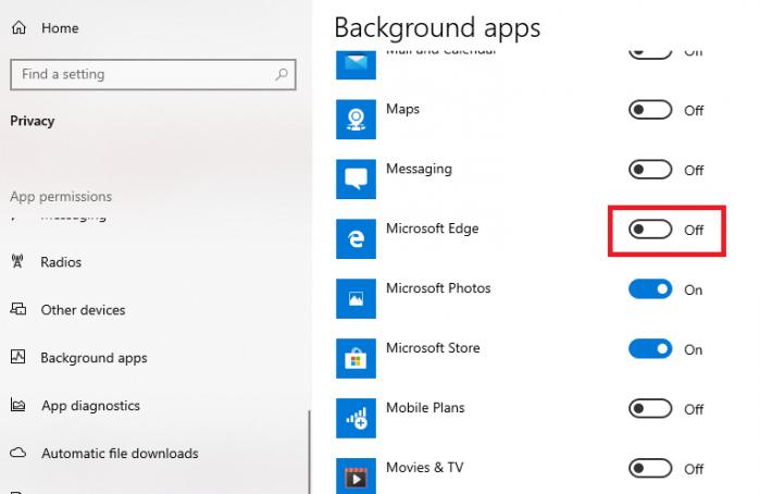 tắt Microsoft Edge chạy ngầm trên máy tính