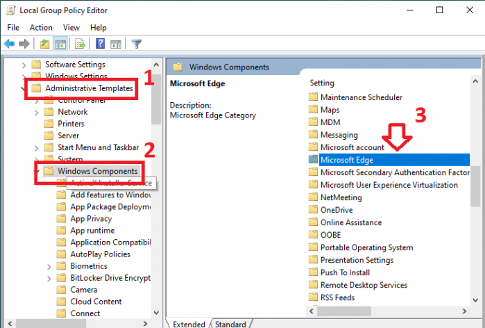 Chặn Microsoft Edge khởi động cùng hệ thống