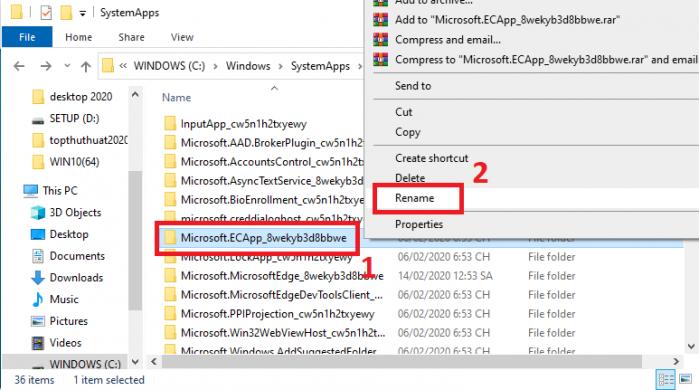 Cách đổi tên thư mục trong Windows 10