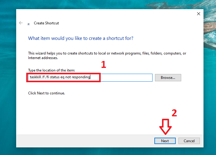 Giải phóng RAM bằng cách tạo Shortcut