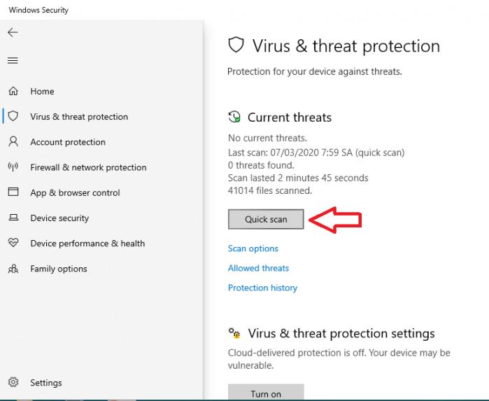 Diệt virus bằng công cụ Windows Defender