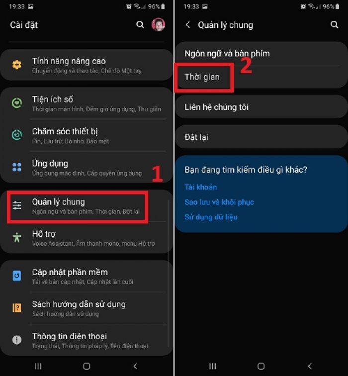 Kiểm tra ngày giờ trên điện thoại Android