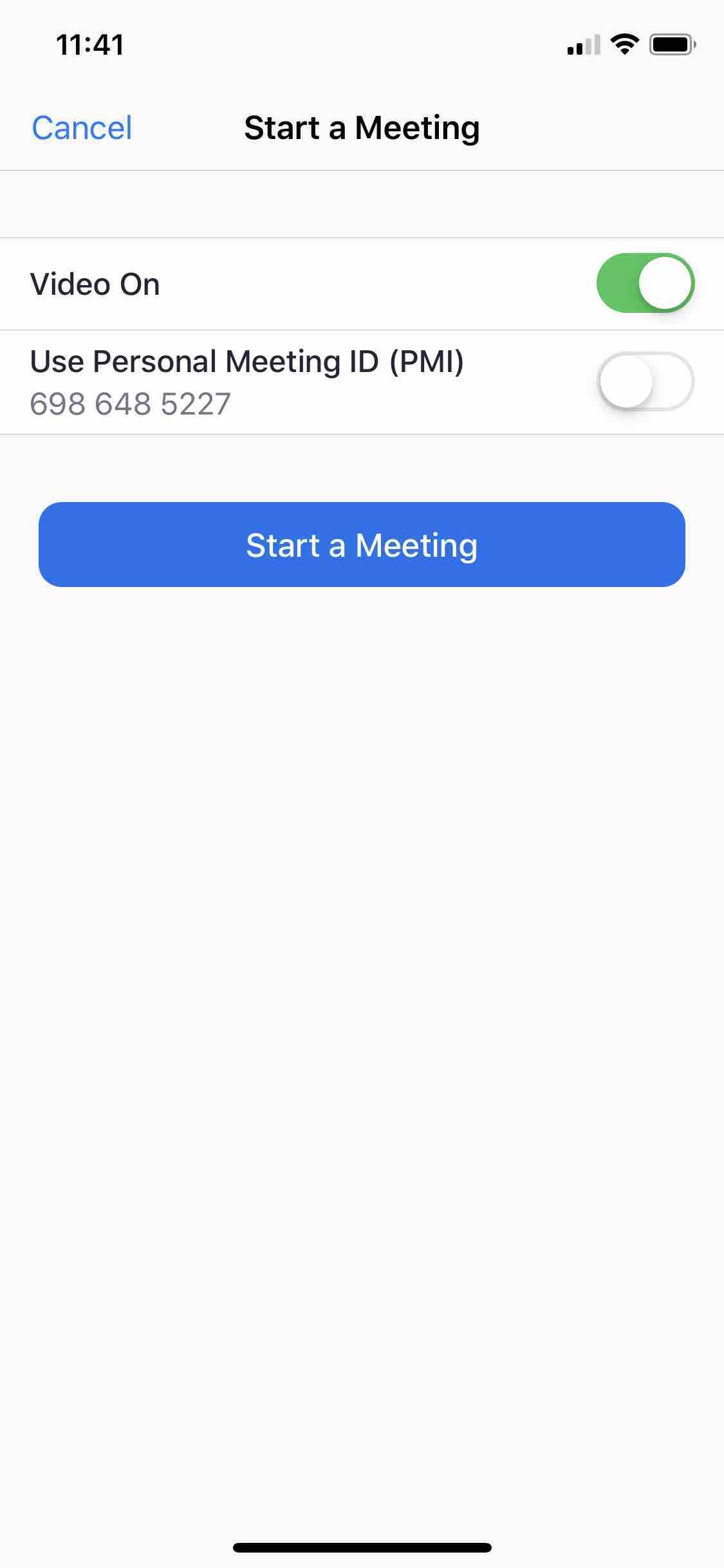 Start a Meeting