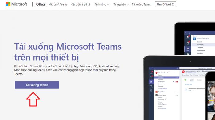 Tải phầm mềm Microsoft Team