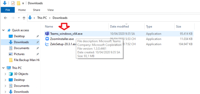 cài đặt phần mềm Microsoft Teams