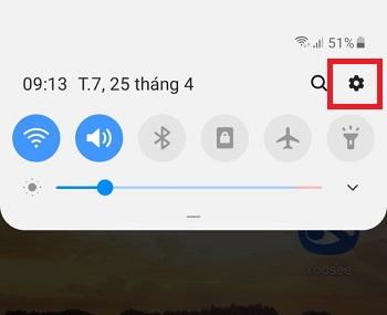 Mở Cài đặt trên điện thoại Android