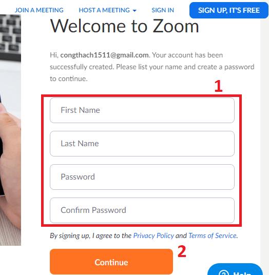 Tạo mật khẩu đăng nhập vào Zoom