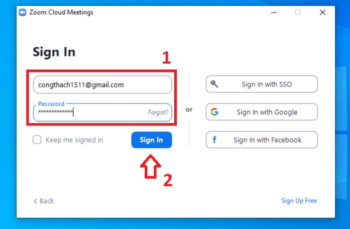 đăng nhập và sử dụng phần mềm zoom