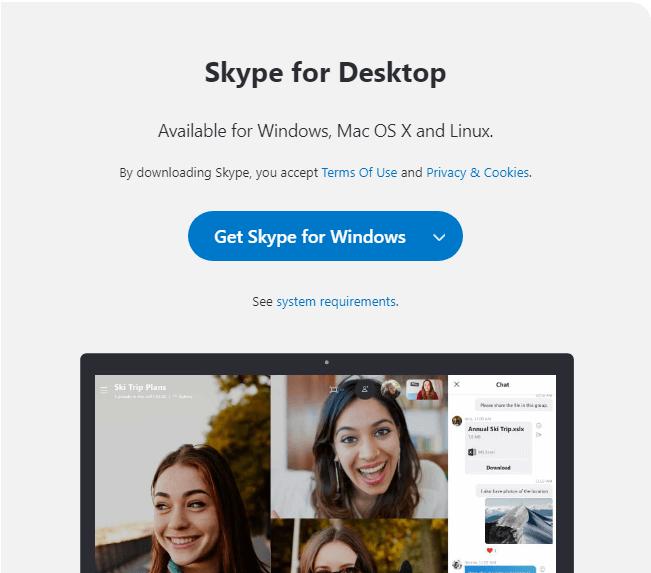 Tải và cài đặt ứng dụng Skype trên PC