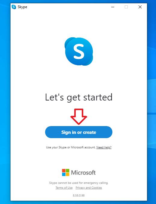 Đăng ký tài khoản Skype