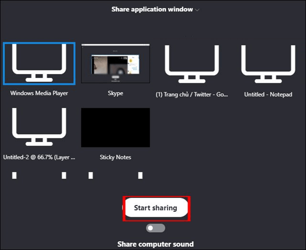 chia sẻ âm thanh cuộc họp trong skype