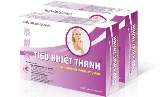 Tiêu Khiết Thanh – Thực phẩm chức năng hỗ trợ điều trị viêm thanh quản