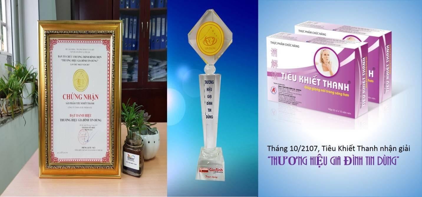 Sản phẩm được trao tặng nhiều giải thưởng danh giá