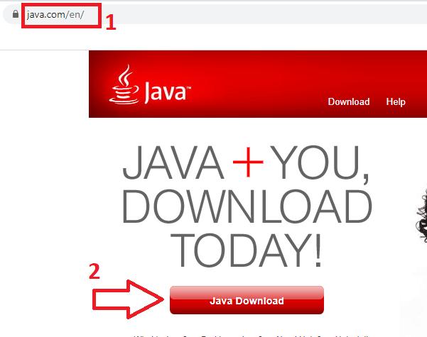 Thiếu phần mềm Java