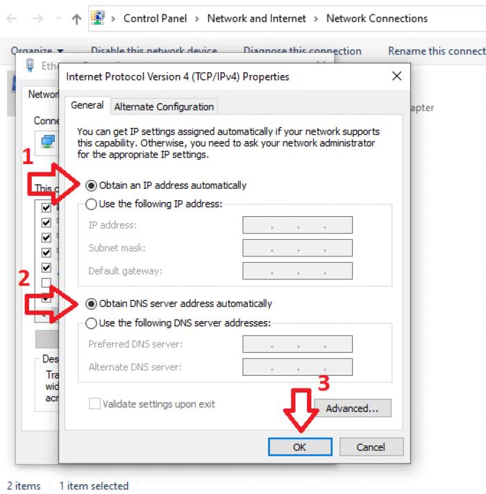 Gán địa chỉ IP động cho máy tính
