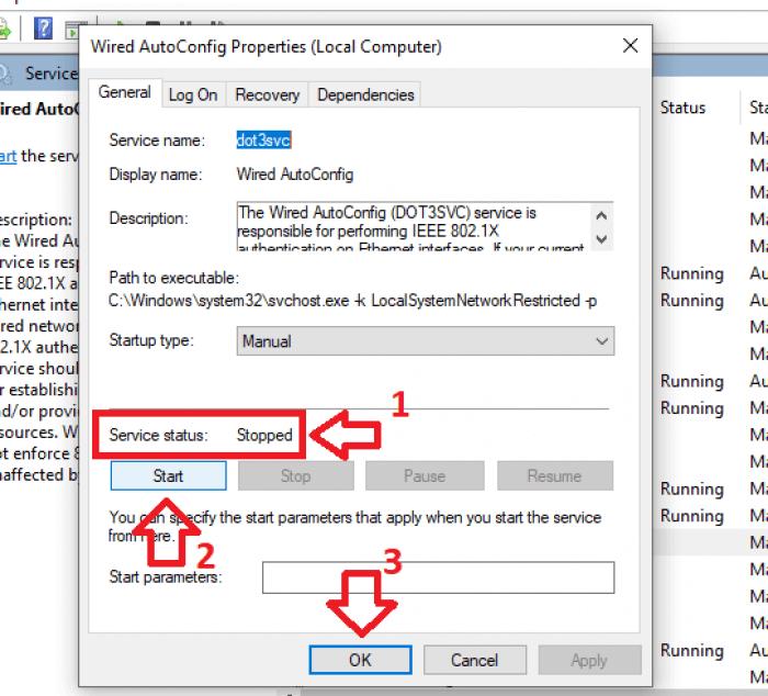 kích hoạt tính năng dịch vụ mạng của máy tính