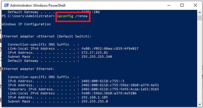 gán địa chỉ IP mới cho máy tính