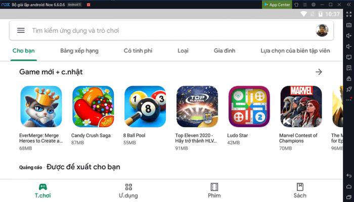 Cài đặt game trên trình giả lập Android