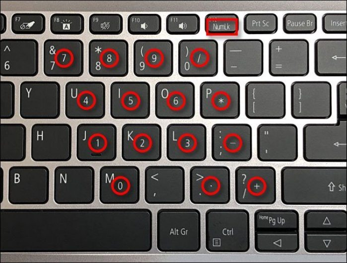 bật Num Lock trên Laptop