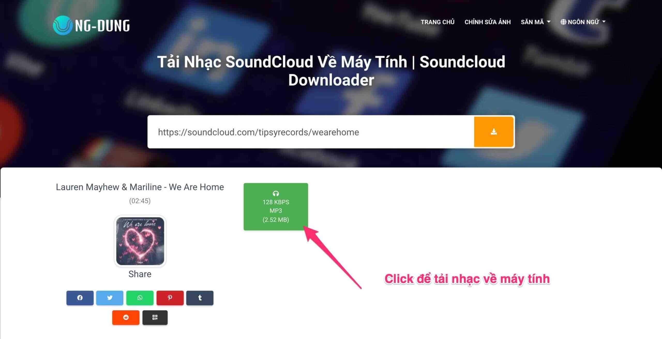 tai nhac soundcloud ve may tinh