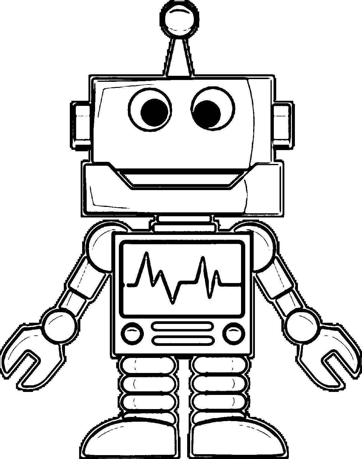 tranh to mau chu de robot