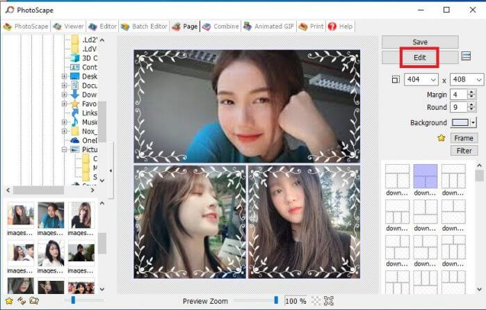 xử lý ảnh chuyên sâu trên Photoscape