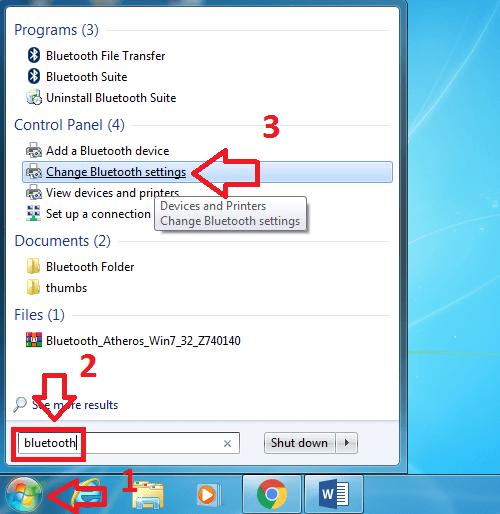Thiết lập và kích hoạt Bluetooth trên Win 7
