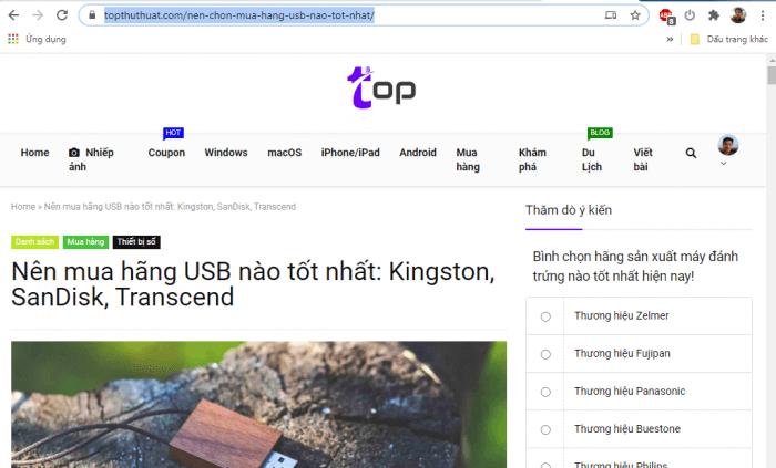 Lưu nội dung một trang web dưới dạng PDF