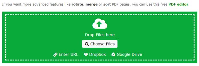 tải tệp cần chuyển đổi PDF lên