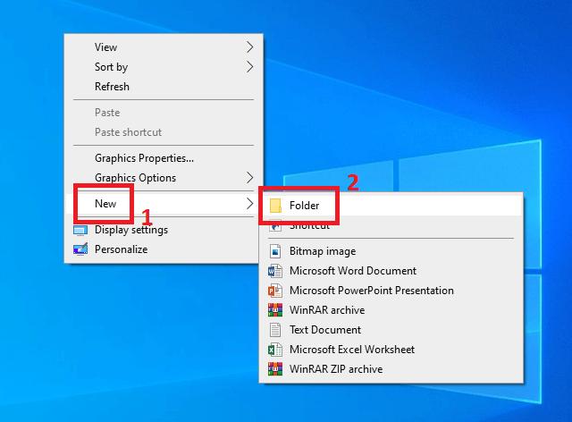 Tạo Folder mới trên máy tính