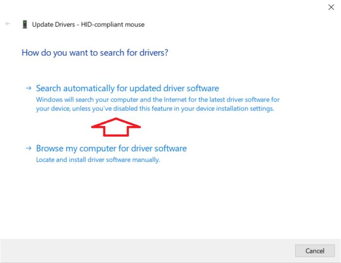 tìm kiếm driver tự động