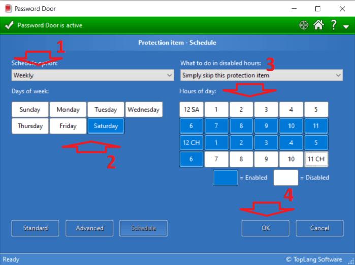 cài đặt lịch có thể chạy ứng dụng