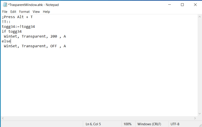 How to save the file notepad