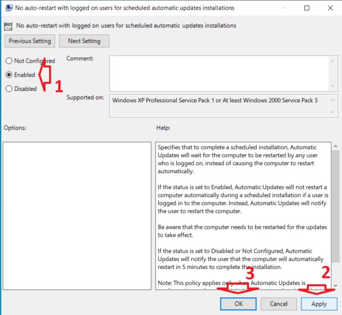 Kích hoạt ngăn windows update