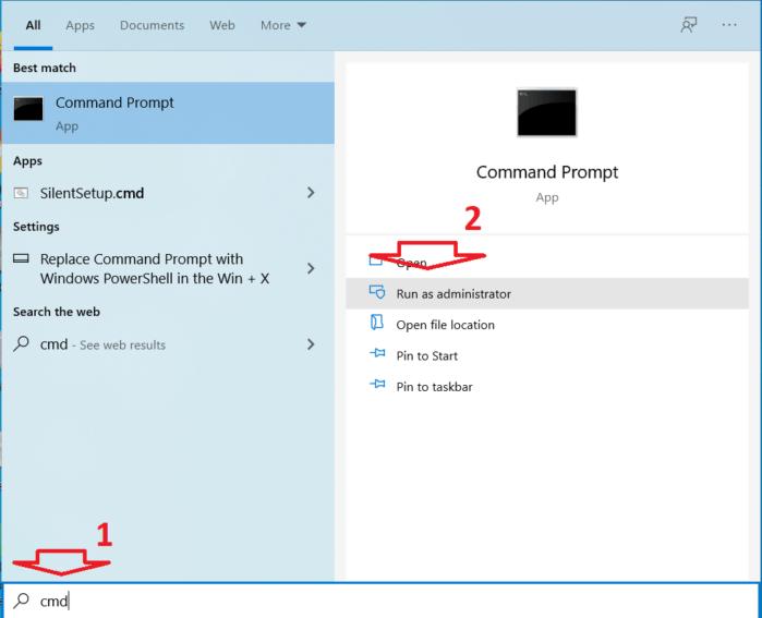 chạy cửa sổ lệnh Command Prompt dưới quyền Admin