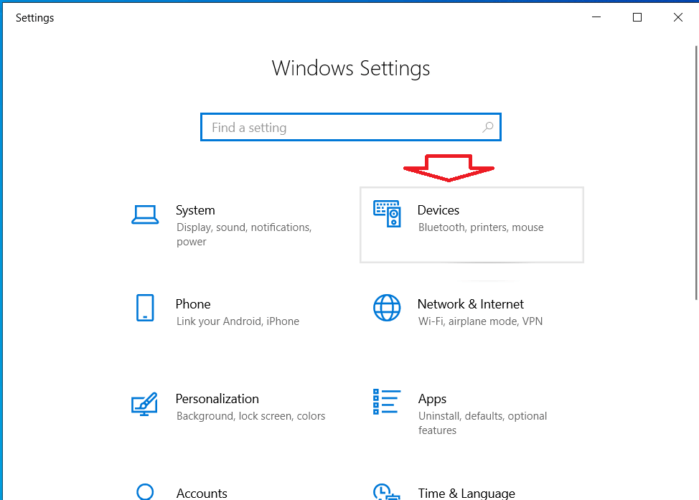 Mở trung tâm cài đặt Windows 10
