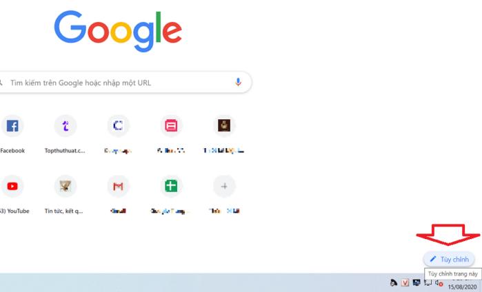 Chọn hình nền mới cho Chrome