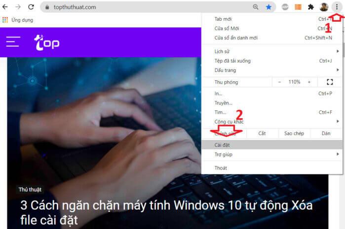 Thay đổi Giao diện Chrome
