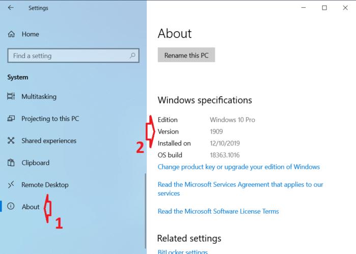 Để kiểm tra phiên bản hiện tại của Windows 10