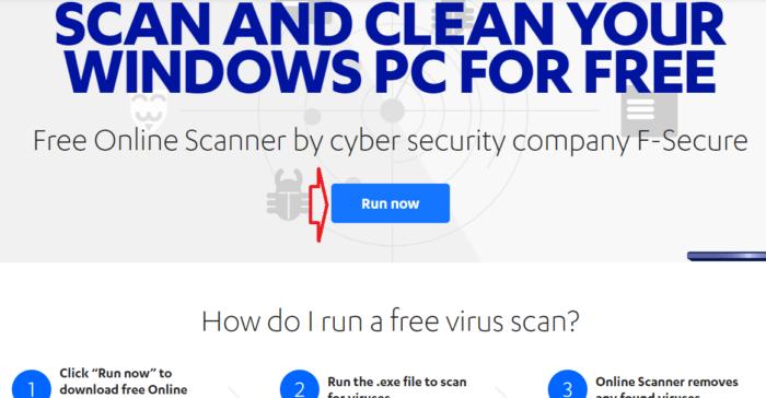 Quét vi rút trực tuyến và miễn phí F-Secure