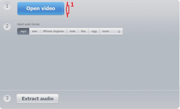 Audio Extractor là trang web tách âm thanh từ video