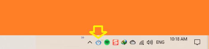 Biểu tượng ứng dụng Shutdown Remote trên thanh taskbar