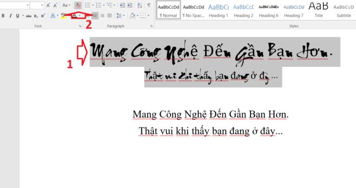 Xóa định dạng văn bản