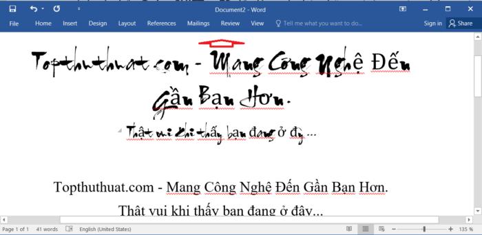 Bật/Tắt Thanh công cụ trong word