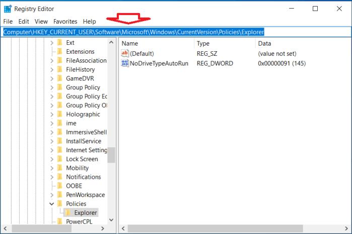 Truy cập nhanh vào thư mục của Registry
