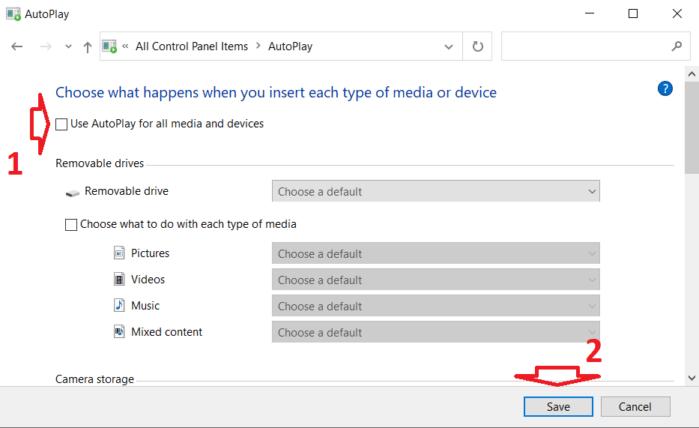 Vô hiệu hóa tính năng AutoPlay từ Control Panel