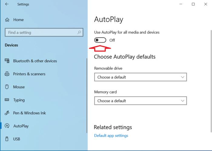 Vô hiệu hóa tính năng AutoPlay của WIndows 10