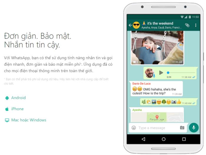 Whatsapp hoạt động như thế nào
